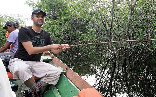 Piranha fishing & caiman spotting on the Amazon Tupana river