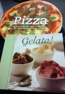 English Pizza and Gelato Italian recipe book