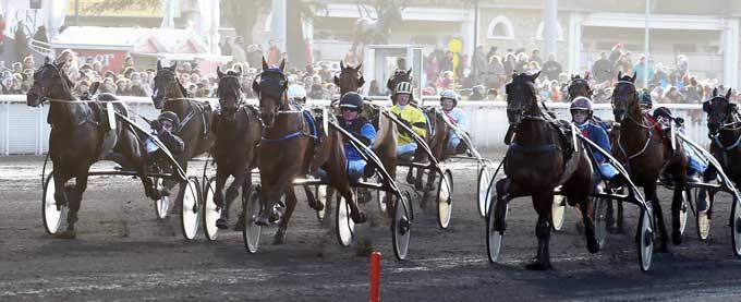Midt i banen vinder Timoko med Bjørn Goop Pix de France foran indvendige Texas Charm, mens Kadett CD udvendigt galoperer en sikker tredjeplads væk. Foto Gerard Forni