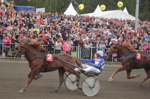 Jorma Kontio bringer Jokivarren Kunkku til sikker sejr i den sidste afdeling i det finske storløb, Kongetravet. oto Kanal 75