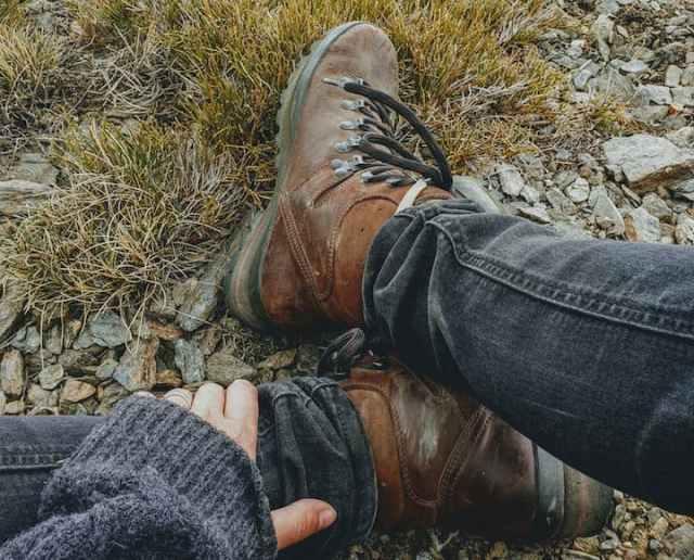 Leren wandelschoenen