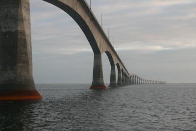 Confereration Bridge spans the Northunberland Strait