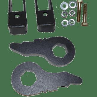 Kit #404015 – 1999-2006 Chevrolet/GMC/Cadillac 2wd/4wd Truck & SUV w/ 6-Lug & Torsion Bar – 2-3″ Front Level Kit
