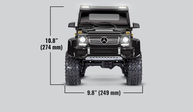 Specs - TRX-6 Mercedes-Benz G 63 AMG 6x6 (#88096-4)
