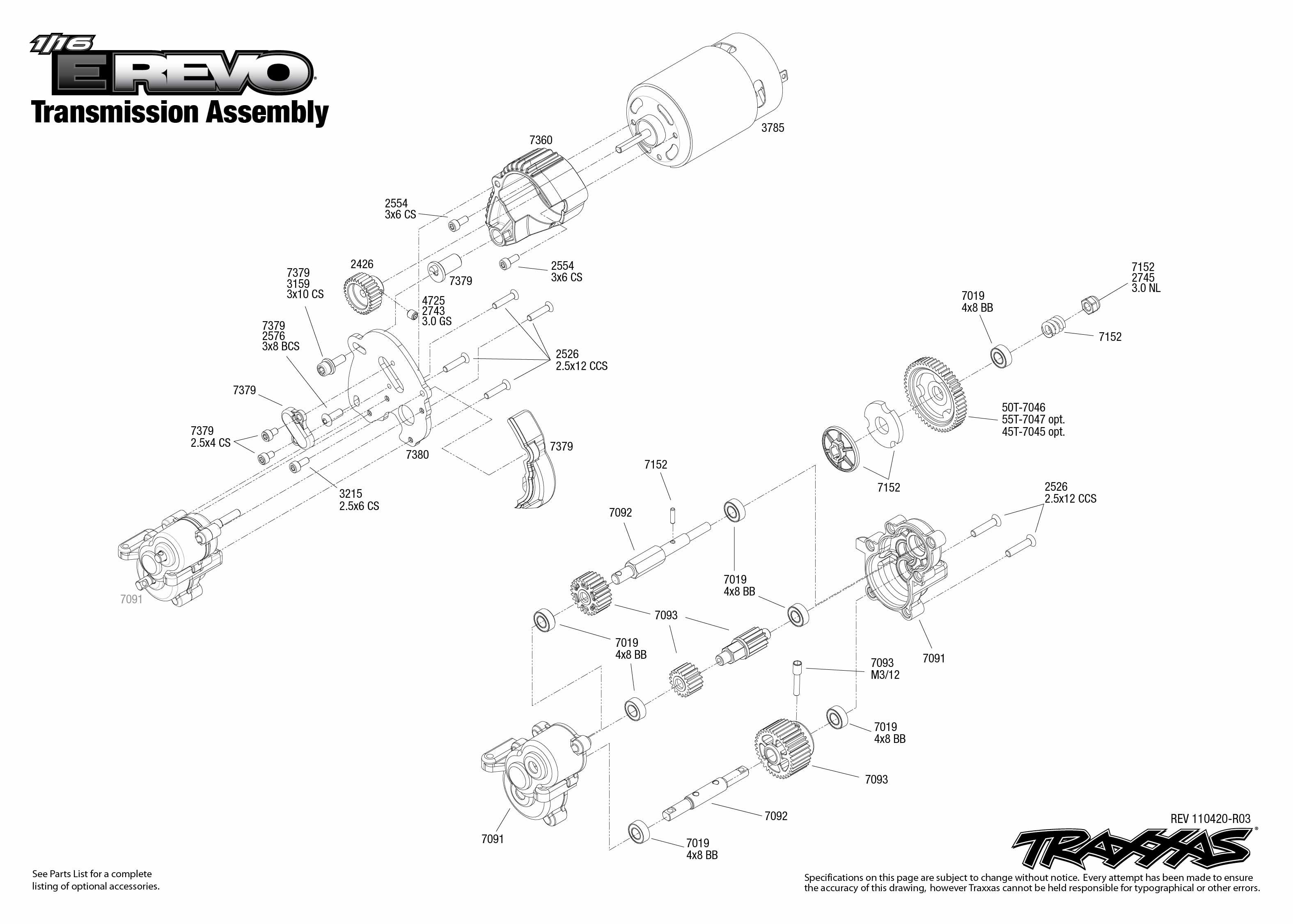 traxxas t maxx 2 5 transmission diagram ford 4000 tractor ignition switch wiring jato revo 3