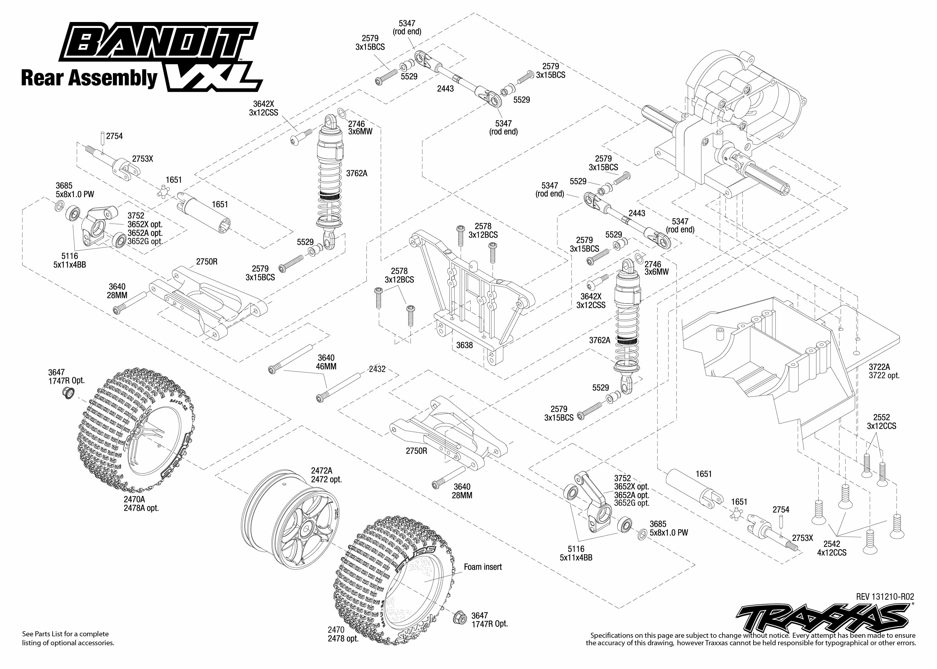 Rear Exploded View Bandit Vxl