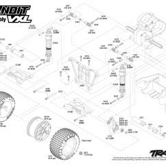 Traxxas Rustler Vxl Parts Diagram 7 Pin Round Trailer Wiring Australia 2407 Rear Exploded View Bandit