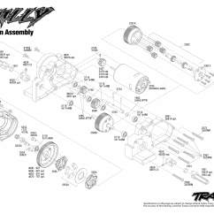 Traxxas T Maxx 2 5 Transmission Diagram Goodman Heat Pump Control Wiring Skully 36064 1 Assembly Exploded View