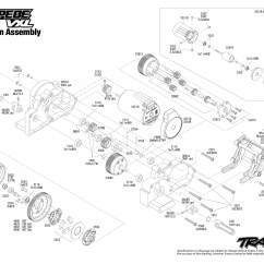 Traxxas Rustler Vxl Parts Diagram Wiring Symbol For Ground Stampede 36076 1 Transmission Assembly Exploded View