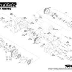 Traxxas Rustler Vxl Parts Diagram Battlefield Formations 37054 Transmission Assembly