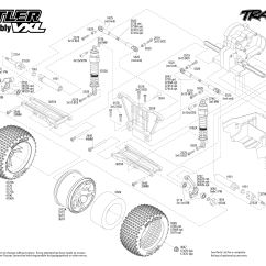 Traxxas Rustler Vxl Parts Diagram Polaris 90 Wiring 37076 1 Rear Assembly Exploded View