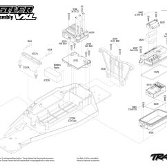 Traxxas Rustler Vxl Parts Diagram Lead Tin Phase 37076 Chassis Assembly