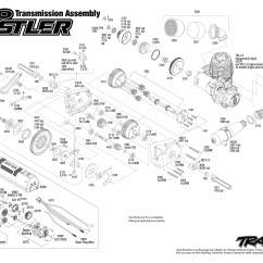 Traxxas Rustler Vxl Parts Diagram Cable Modem Nitro 44094 1 Transmission Assembly Exploded
