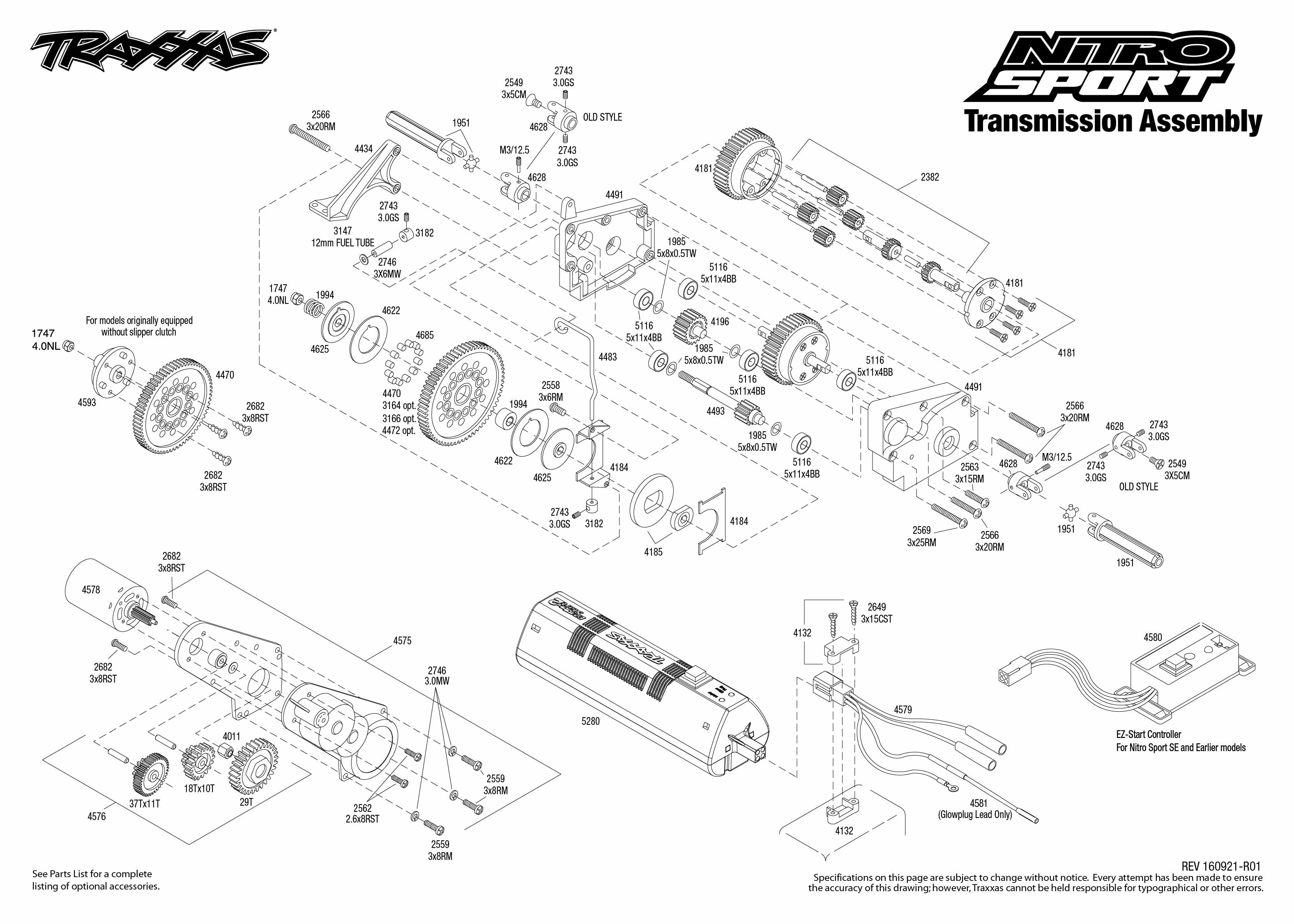 Nitro Sport (45104-1) Transmission Assembly Exploded View