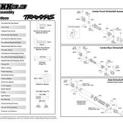 Traxxas T Maxx 2 5 Transmission Diagram 2006 Jeep Grand Cherokee Wiring 3 49077 Driveshafts Assembly Exploded View