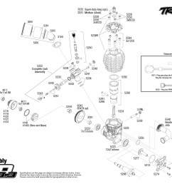 jato 3 3 55077 3 engine assembly exploded view traxxas rh traxxas com [ 3150 x 2250 Pixel ]