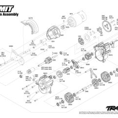 Traxxas T Maxx 2 5 Transmission Diagram Ford F250 7 Pin Trailer Wiring Summit 56076 1 Assembly Exploded View