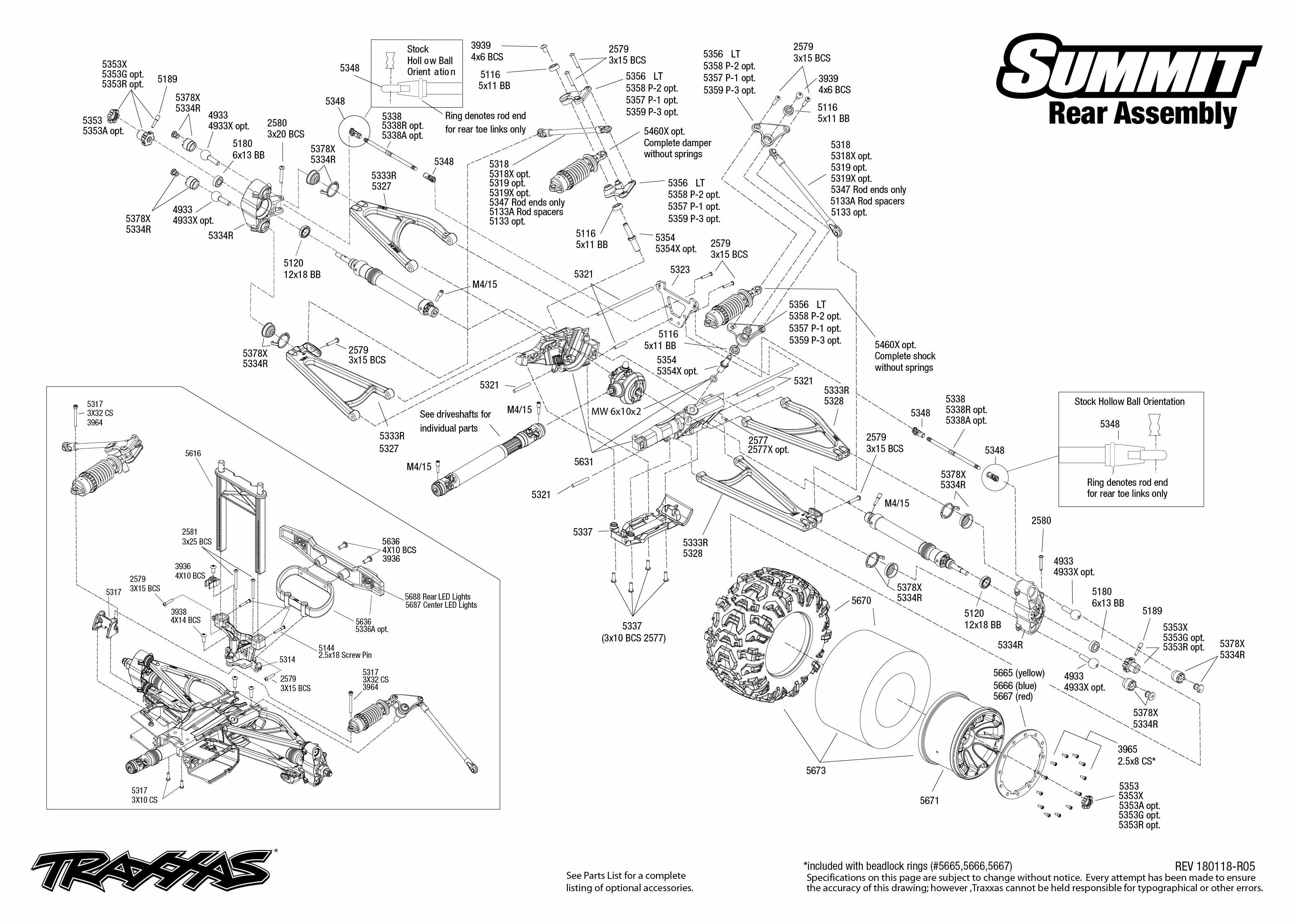 Traxxas Summit 56076-4 monster truck 1:8