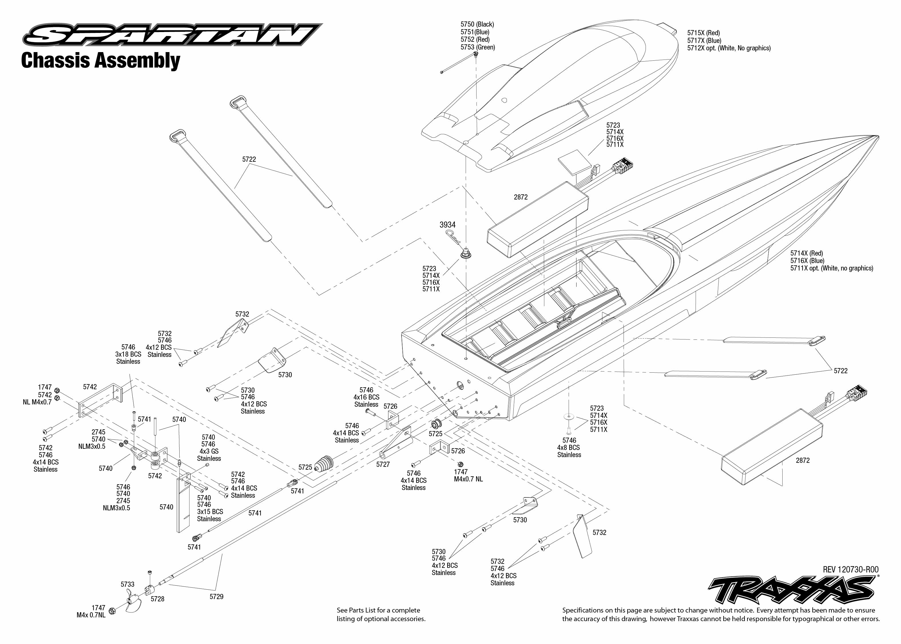 5707 Chassis Exploded View (Spartan, VXL-6s powered by
