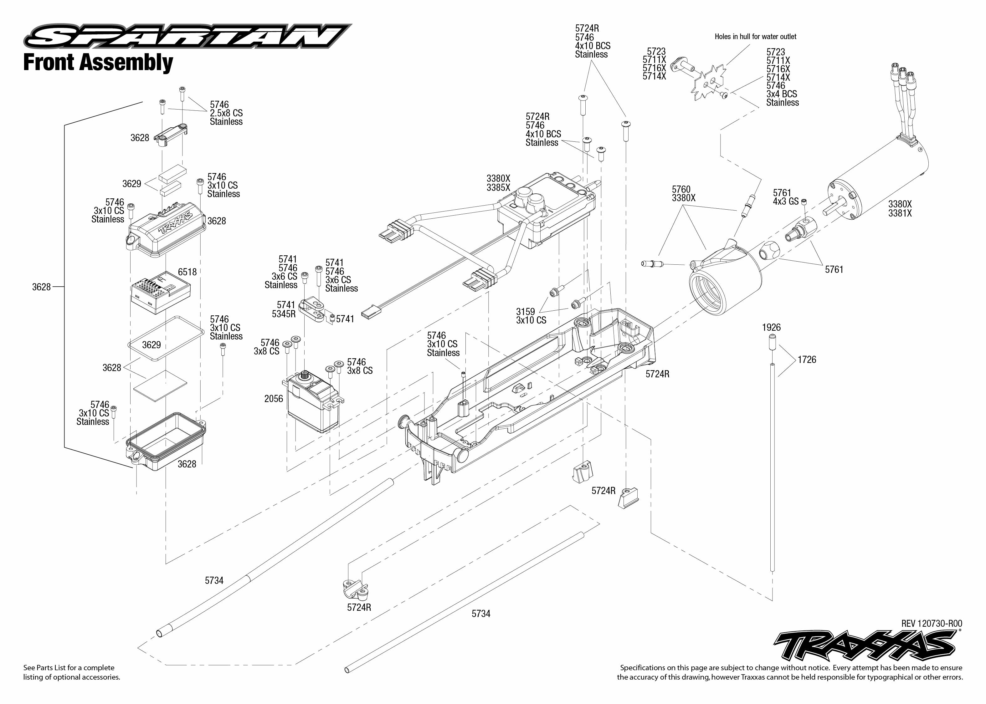 Traxxas Spartan Front Assembly