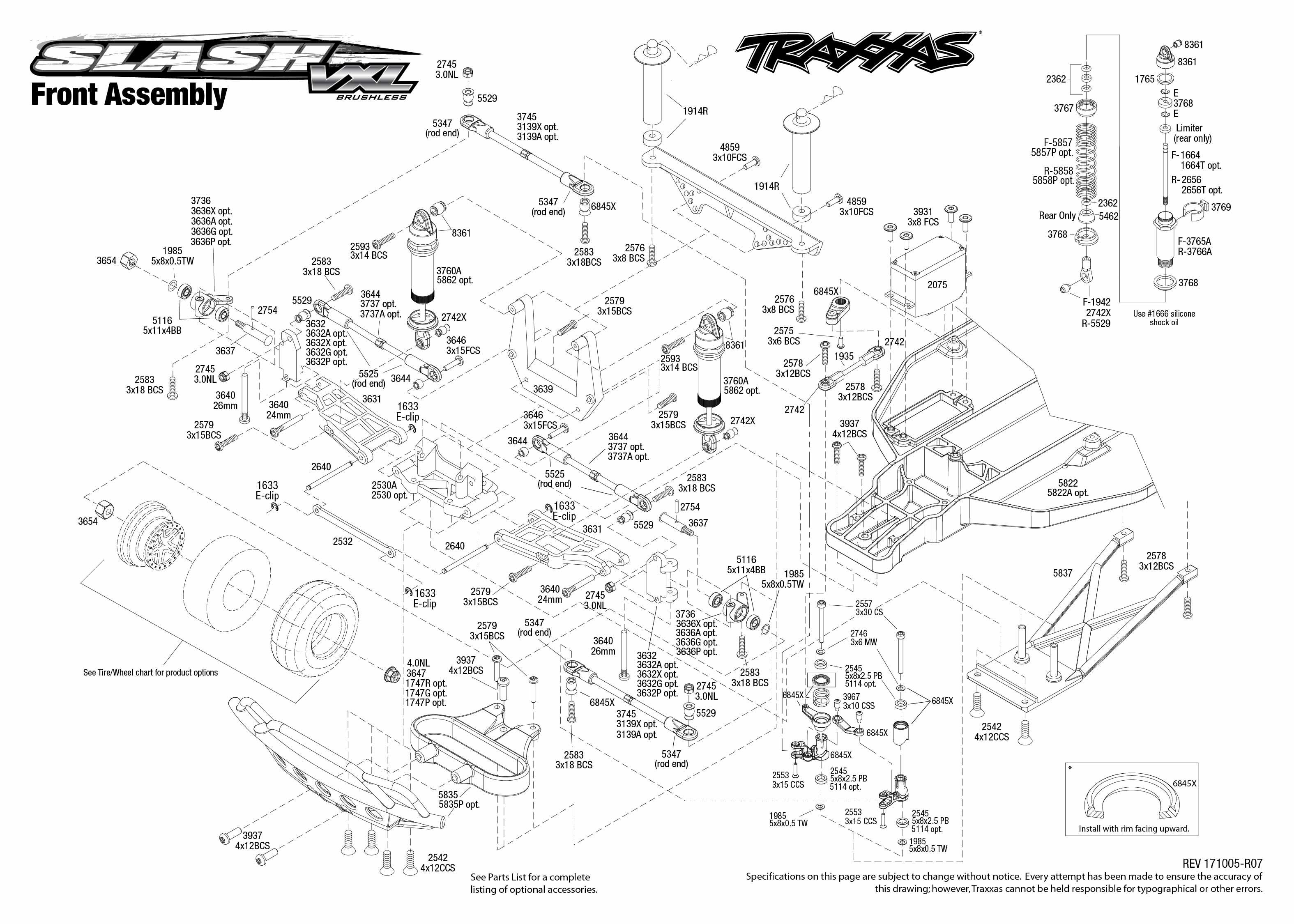 Traxxas 580764T4 Slash VXL 1/10 RTR 2WD Short Course Truck