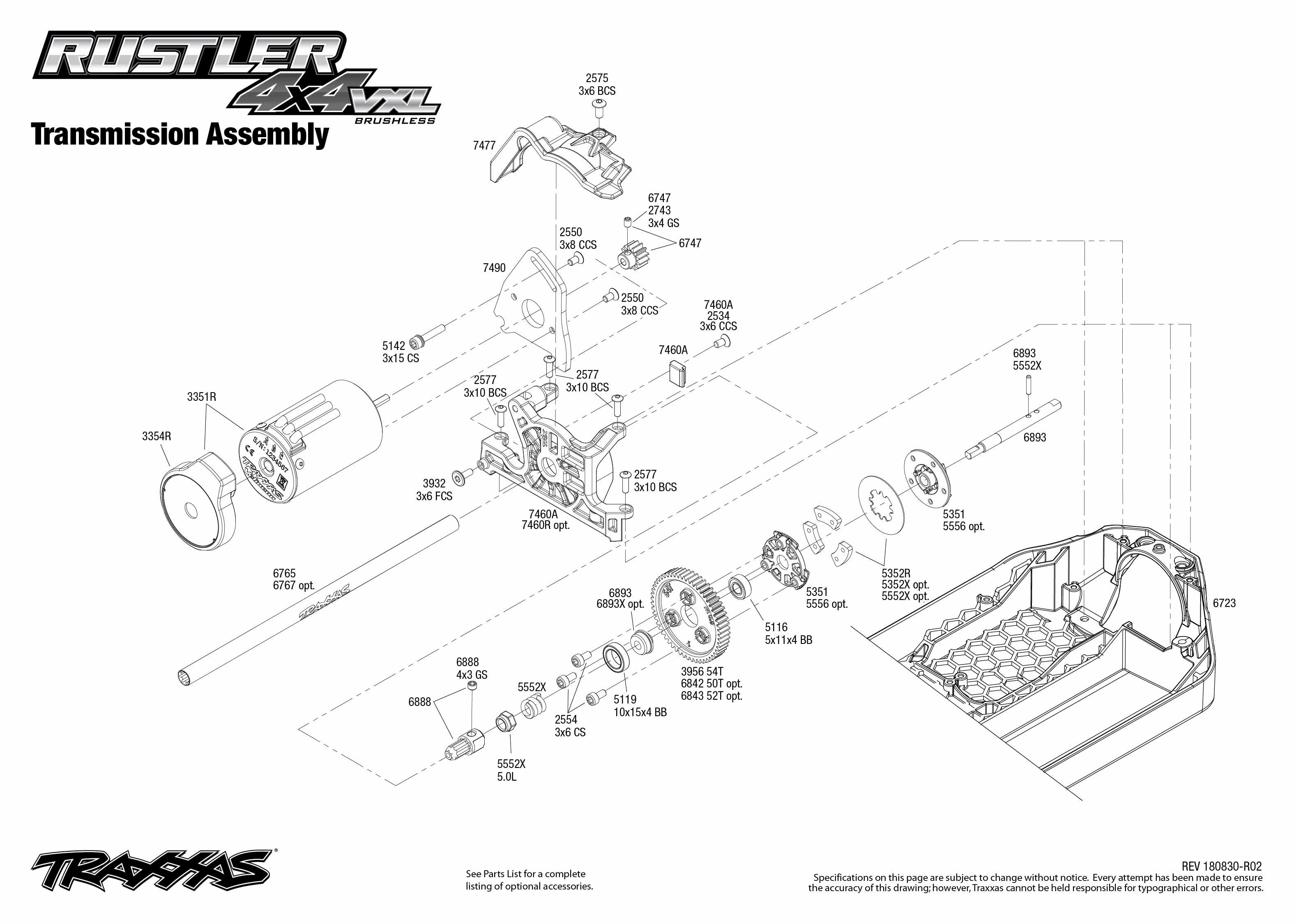 Traxxas 67076-4 Rustler 4x4 VXL Express-Suche aus