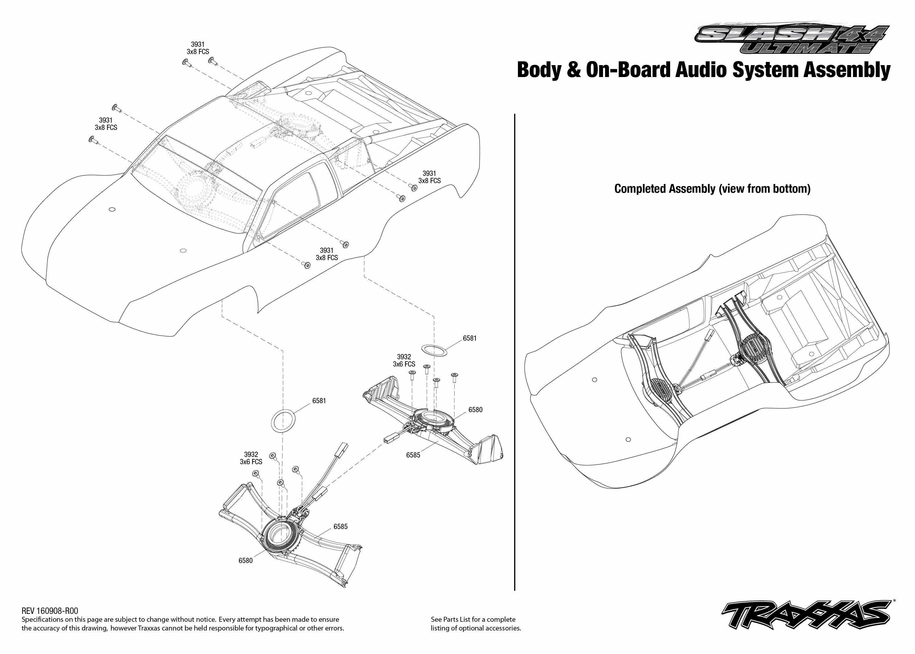 Slash 4X4 Ultimate (68077-24) Body & On-Board Audio System