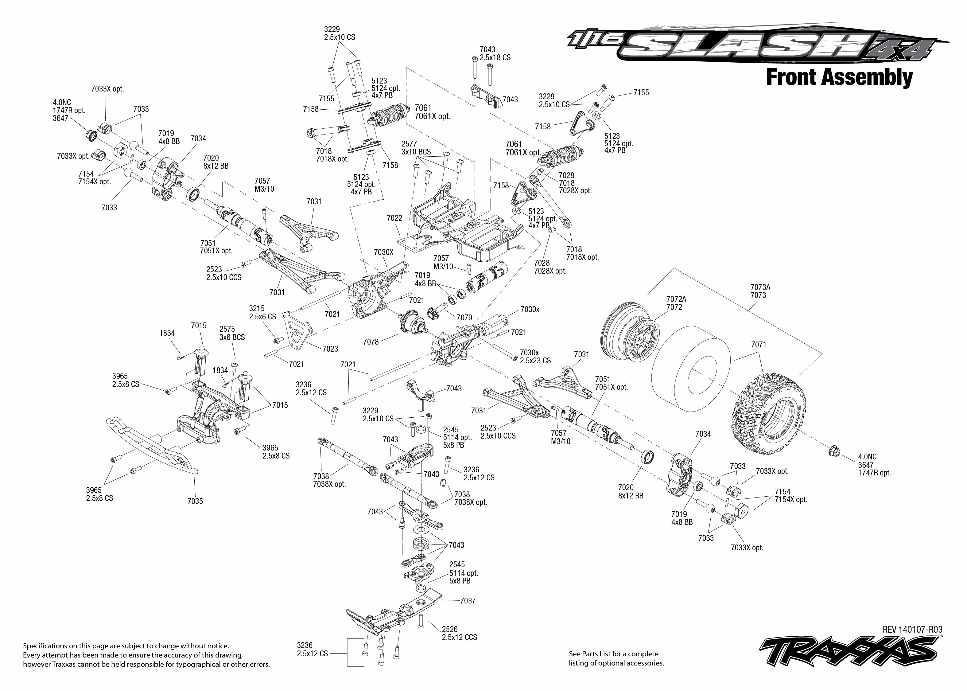 Traxxas Stampede Parts Diagram Front