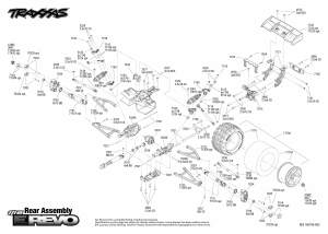 116 ERevo (710541) Rear Assembly Exploded View | Traxxas