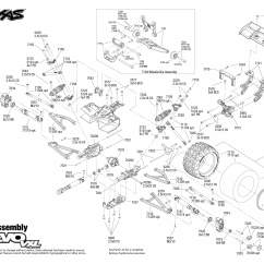 E Revo Brushless Parts Diagram E46 Boot Handle Wiring 1 16 Vxl 71074 Rear Assembly Exploded View