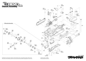 7107 Chassis Exploded Views (116th ERevo VXL) | Traxxas