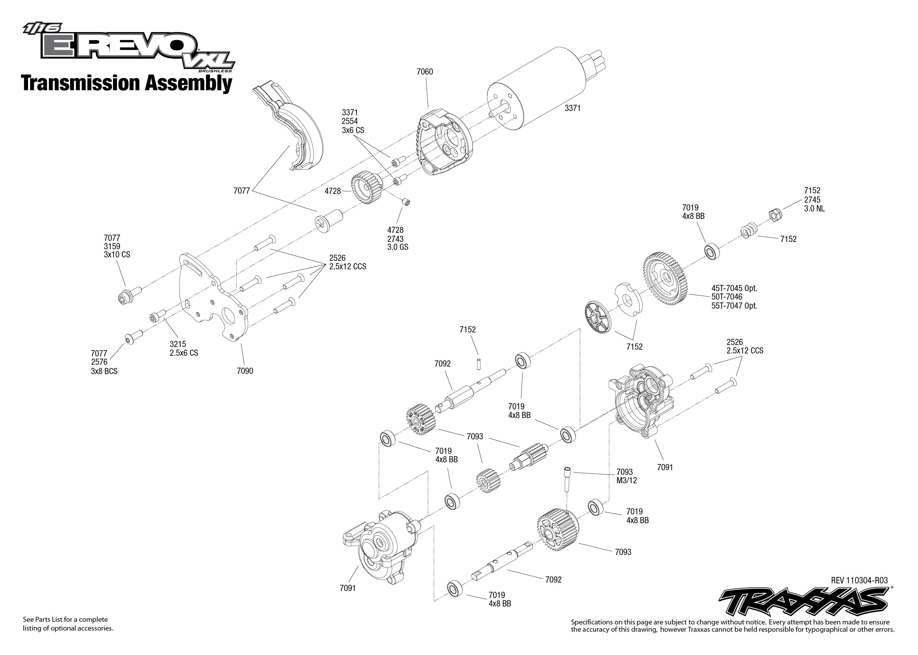 Traxxas Revo Parts Diagram : 26 Wiring Diagram Images