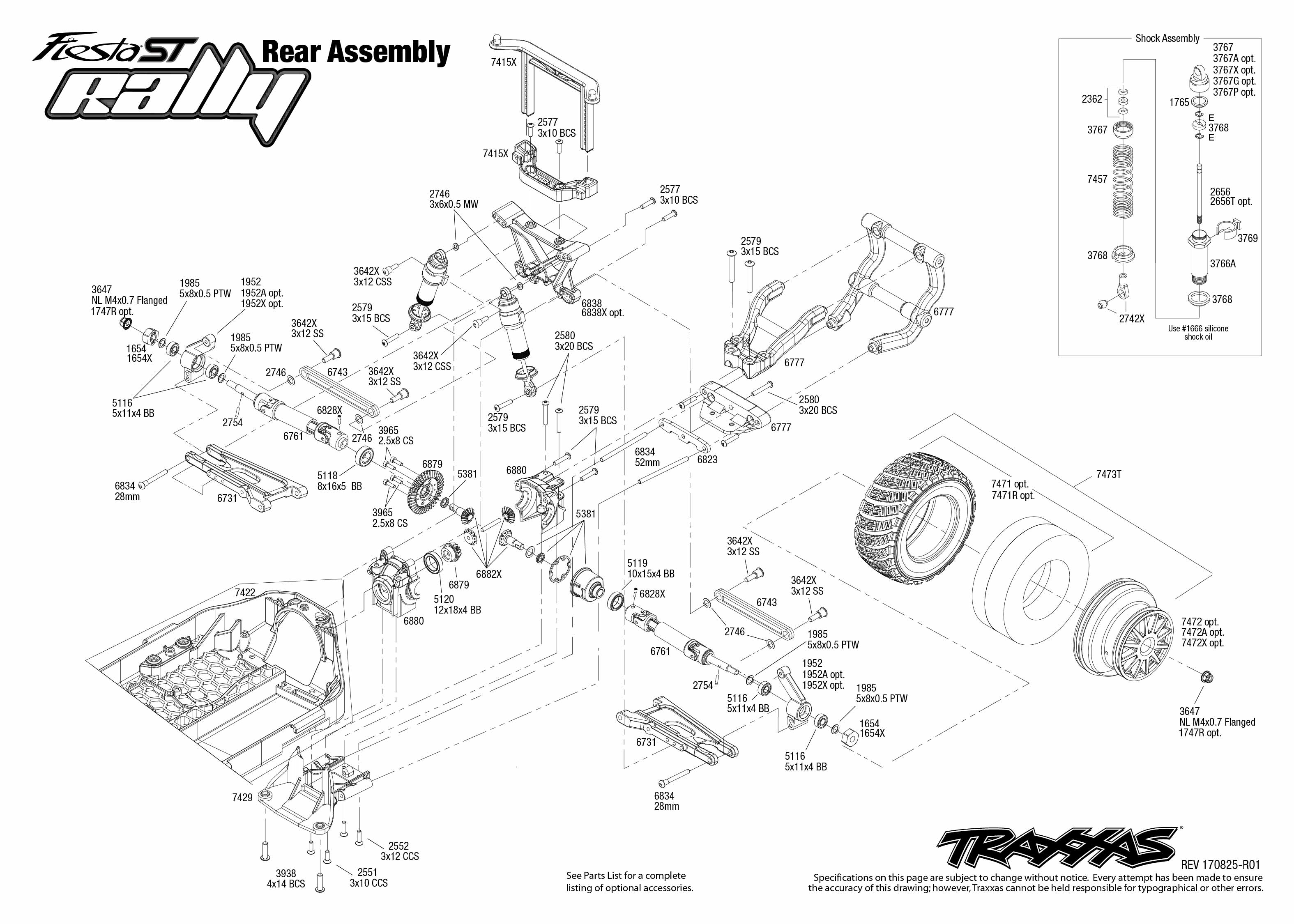 Ford Fiesta ST Rally (74054-6) Rear Assembly Exploded View