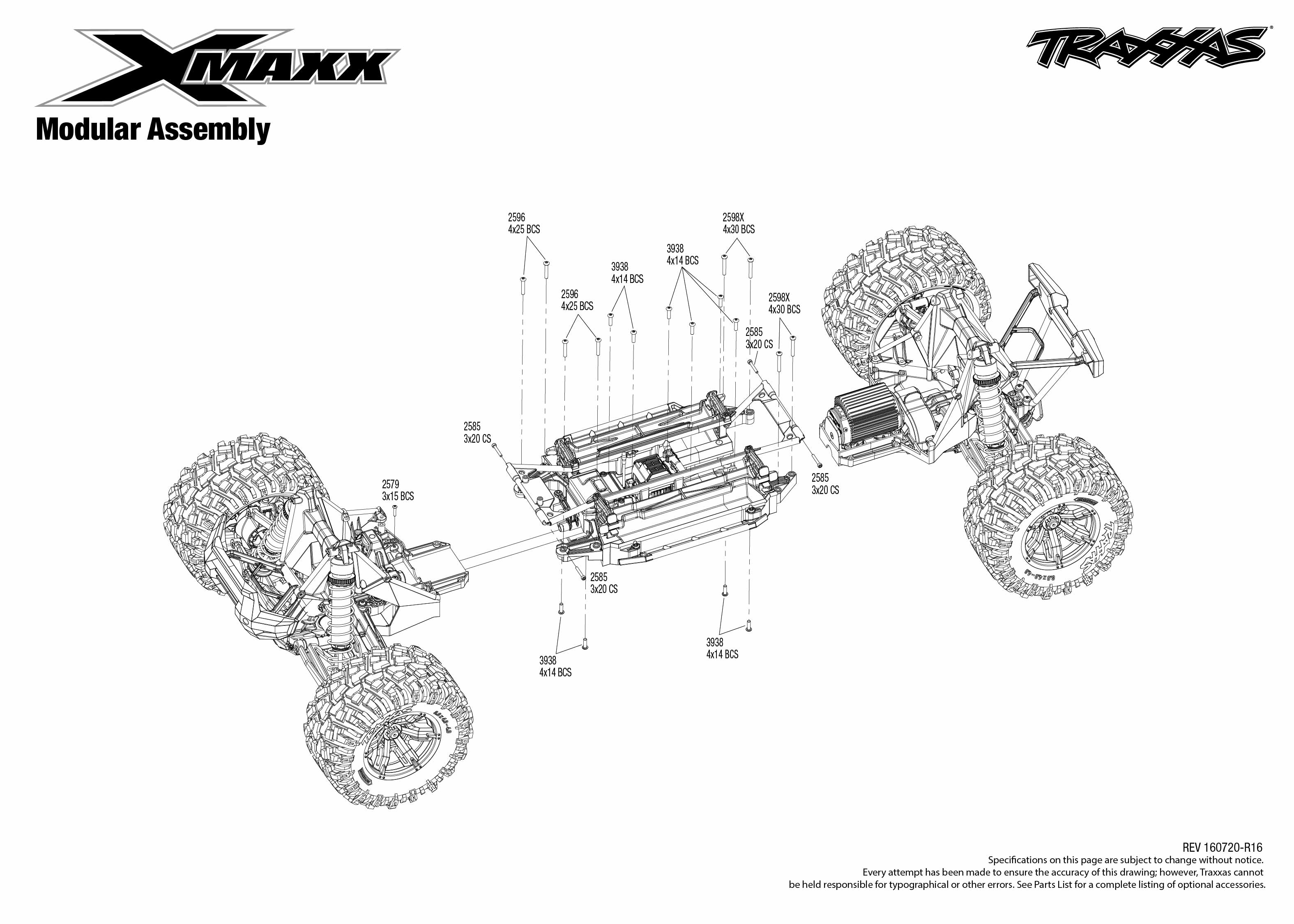 traxxas t maxx 2 5 transmission diagram small engine ignition switch wiring x 77076 4 modular assembly exploded view