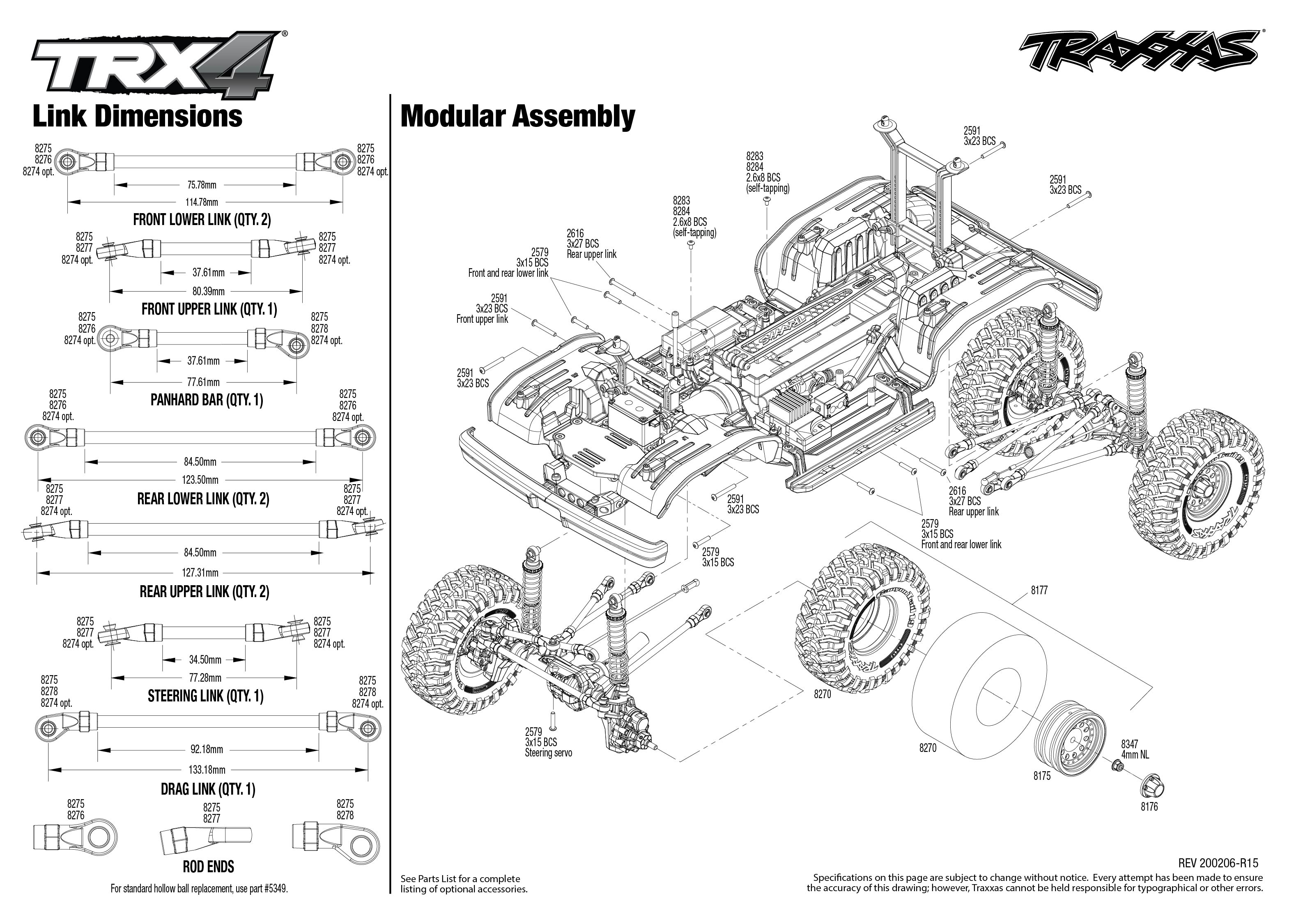TRX-4 Ford Bronco (82046-4) Modular Assembly Exploded View