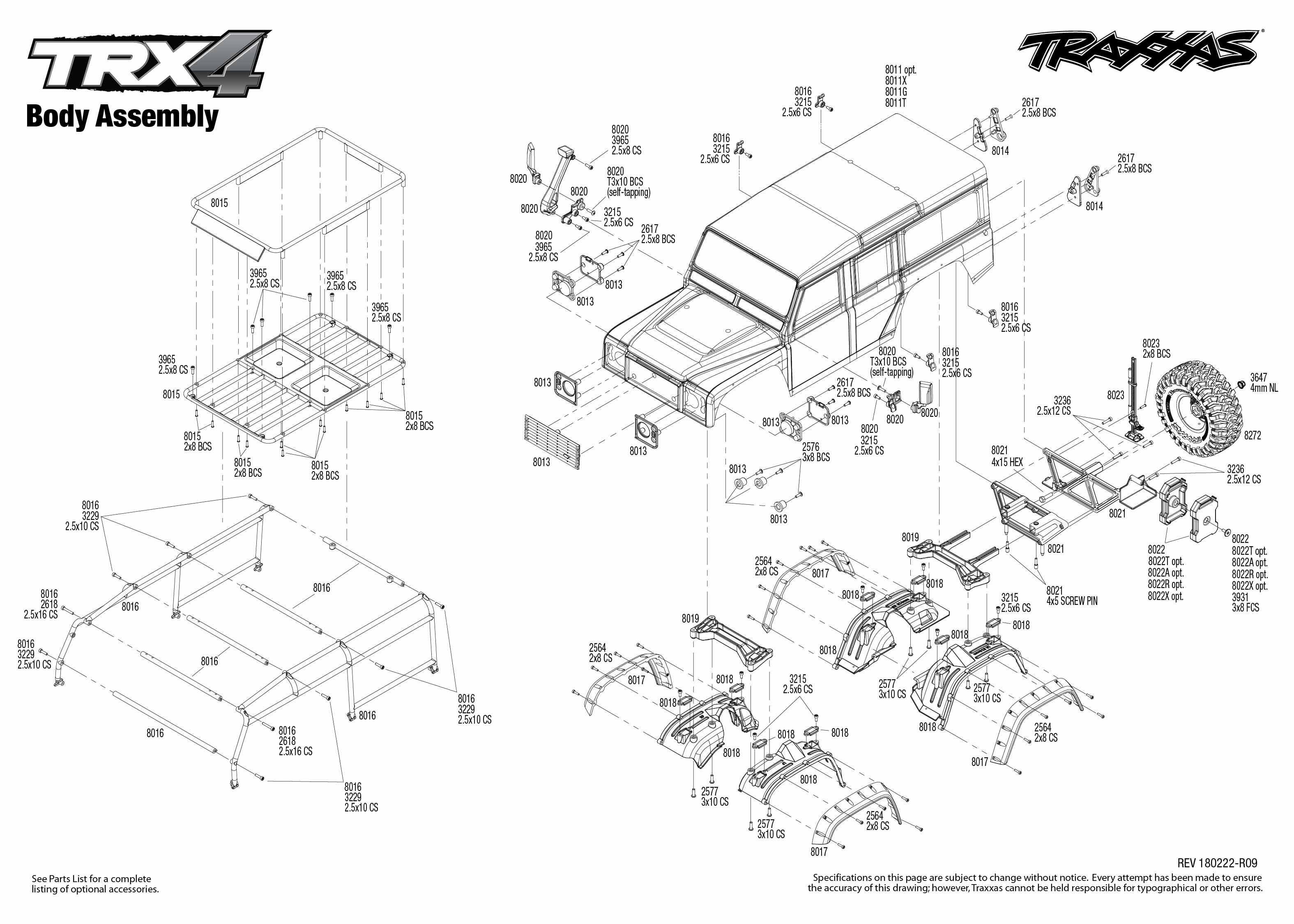 TRX-4 Scale and Trail Crawler (82056-4) Body Assembly