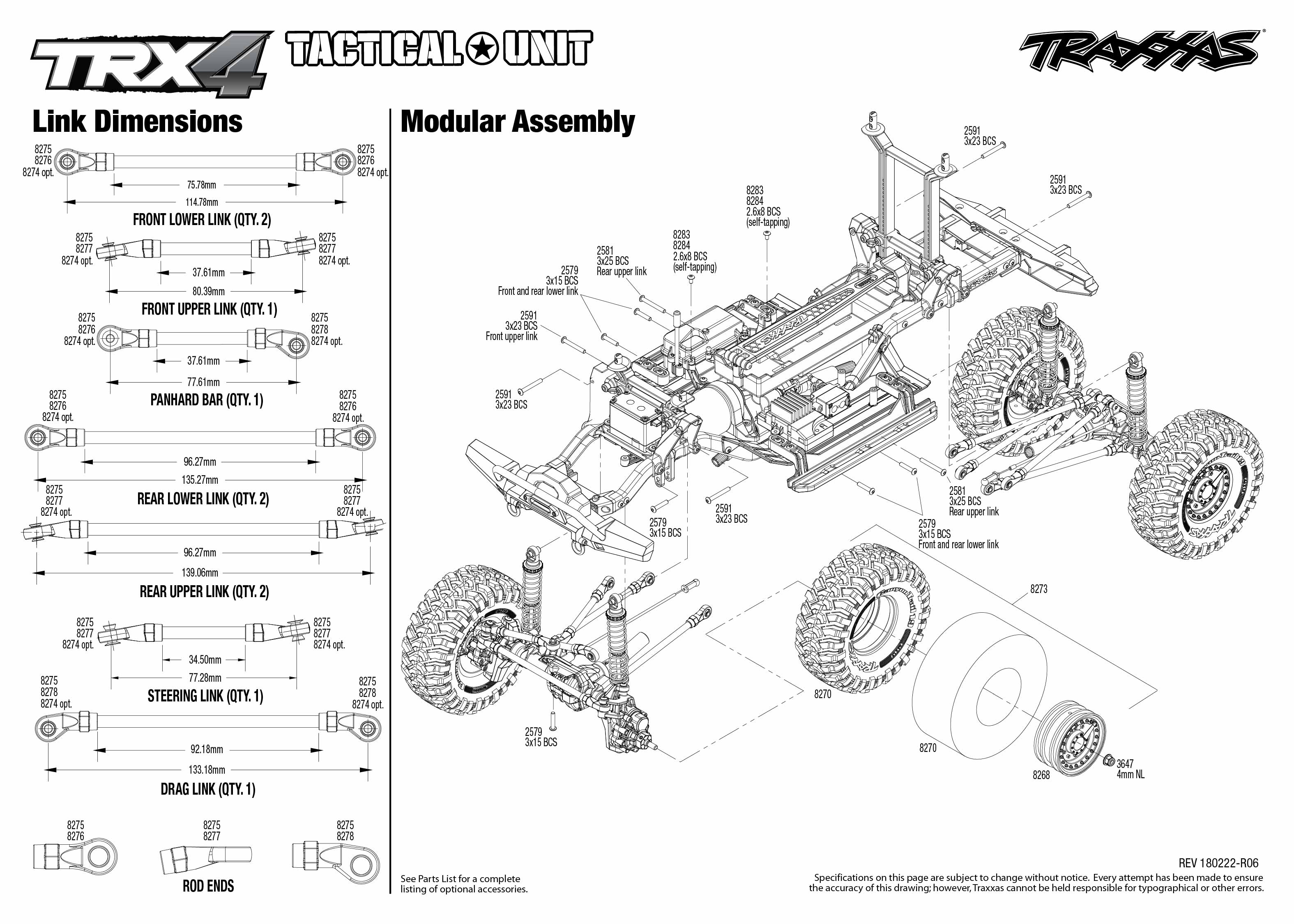 TRX-4 Tactical Unit (82066-4) Modular Assembly Exploded