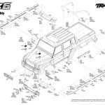 Trx 6 Mercedes Benz G 63 Amg 6x6 88096 4 Body Assembly Exploded View Traxxas