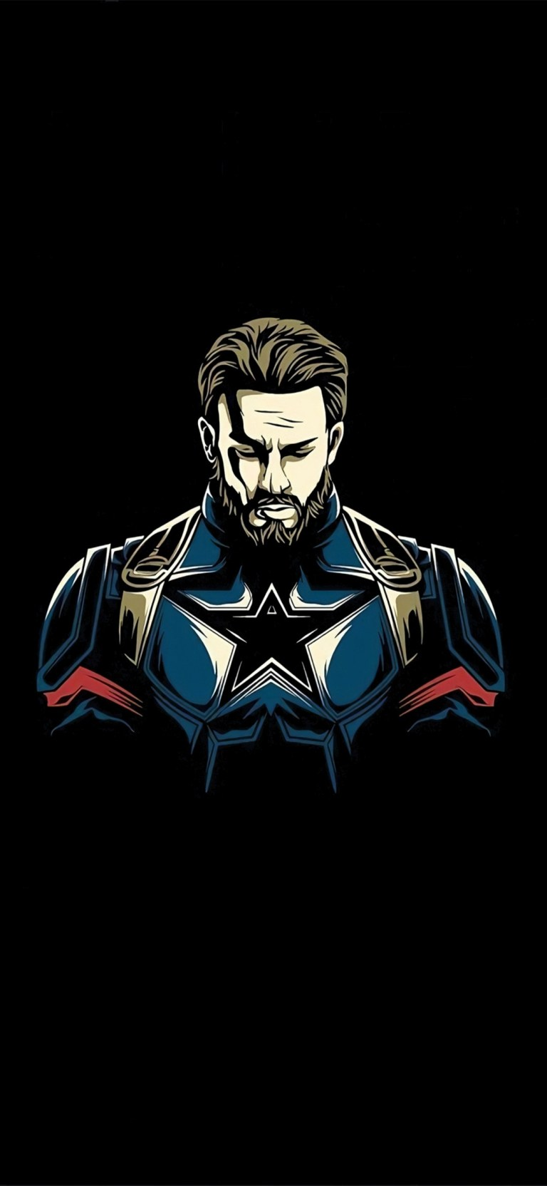 Captain America Dark HD Android Mobile Wallpapers Download