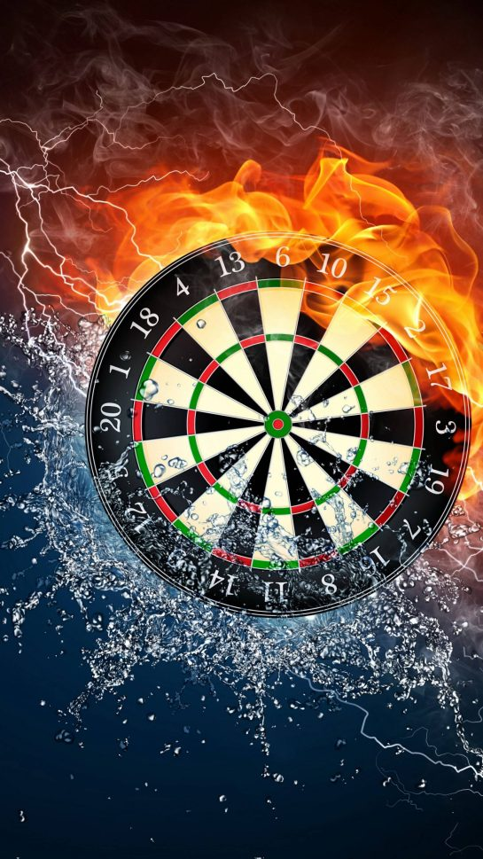 Fire Water Dart Board Android 2160X3840 UHD 4K Wallpapers Download