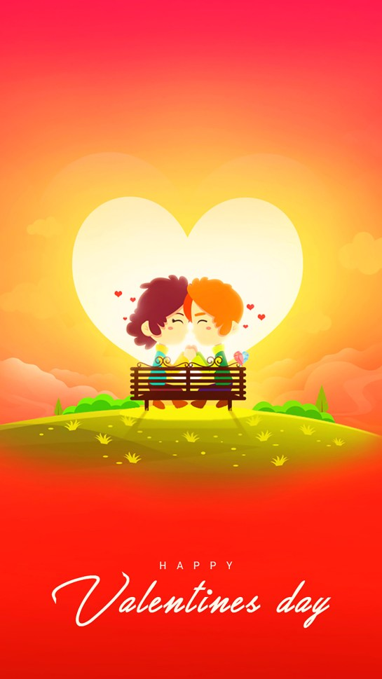Happy Valentine's Day Greeting Animated Beautiful Wallpapers