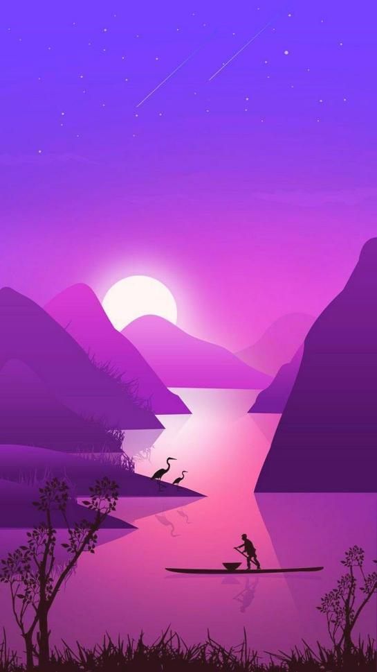 Purple Nature Beautiful Landscape Android Full HD Wallpapers Download