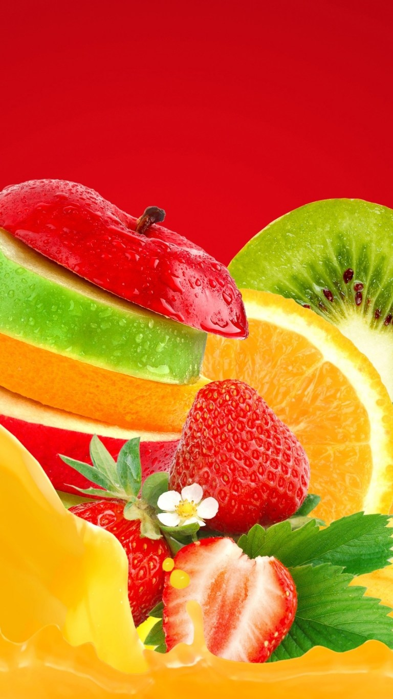 Fruits and Flower iPhone 12 Pro HD Wallpaper