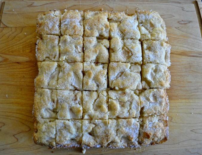 Sprinkled with caster sugar after baking