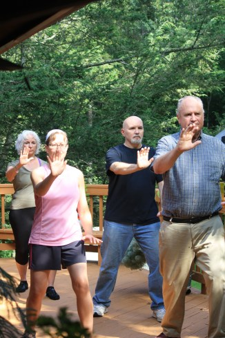 Tai Chi in the Treetops at Trayfoot Mountain Studio!