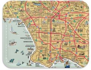 Los Angeles Souvenir TV Tray