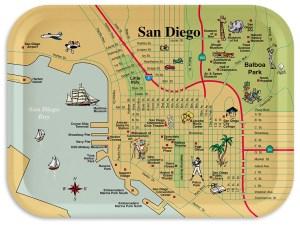"""San Diego Breakfast Tray 11""""x8"""""""