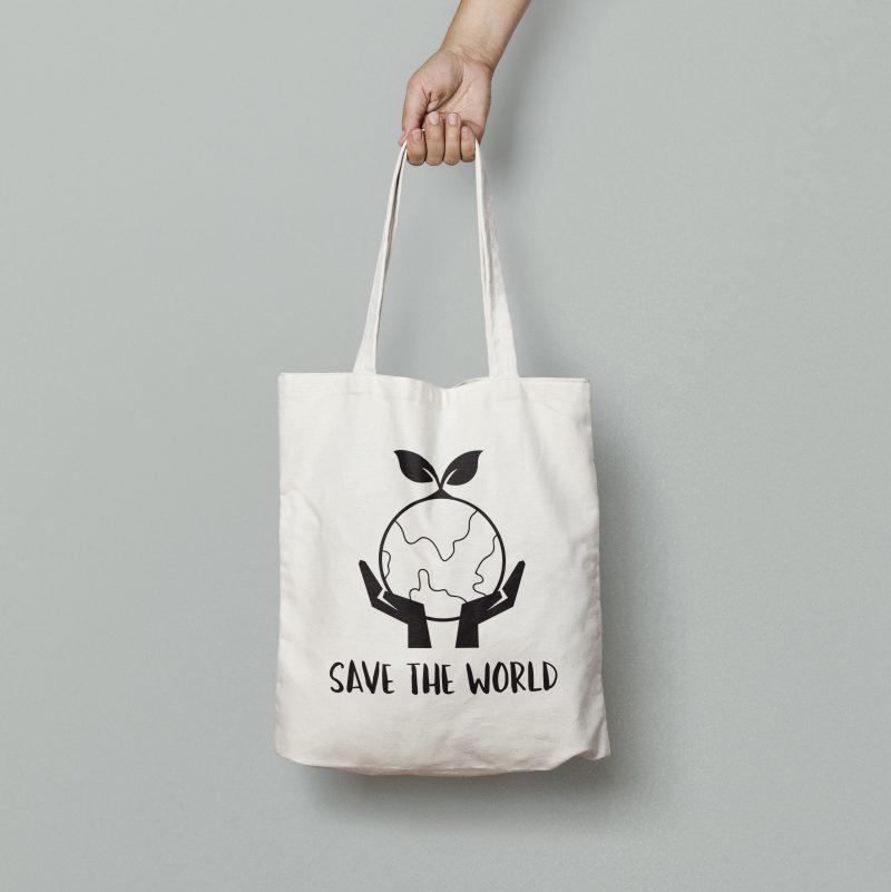 Save the workdCanvas Tote Bag MockUp