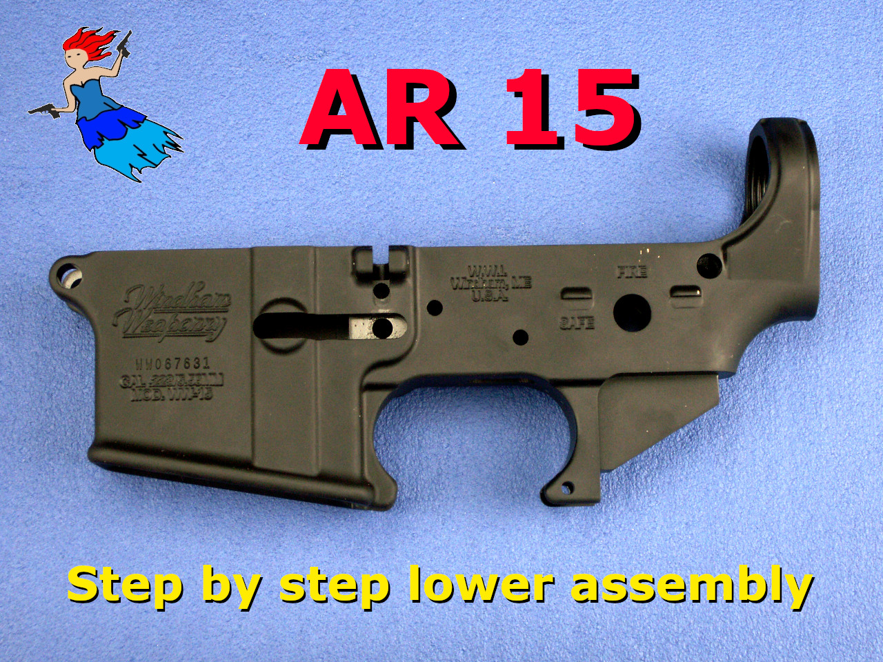 AR 15 lower receiver assembly video