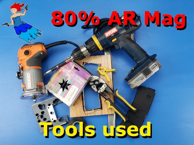tools used in the 80% AR 15 Magazine video post image